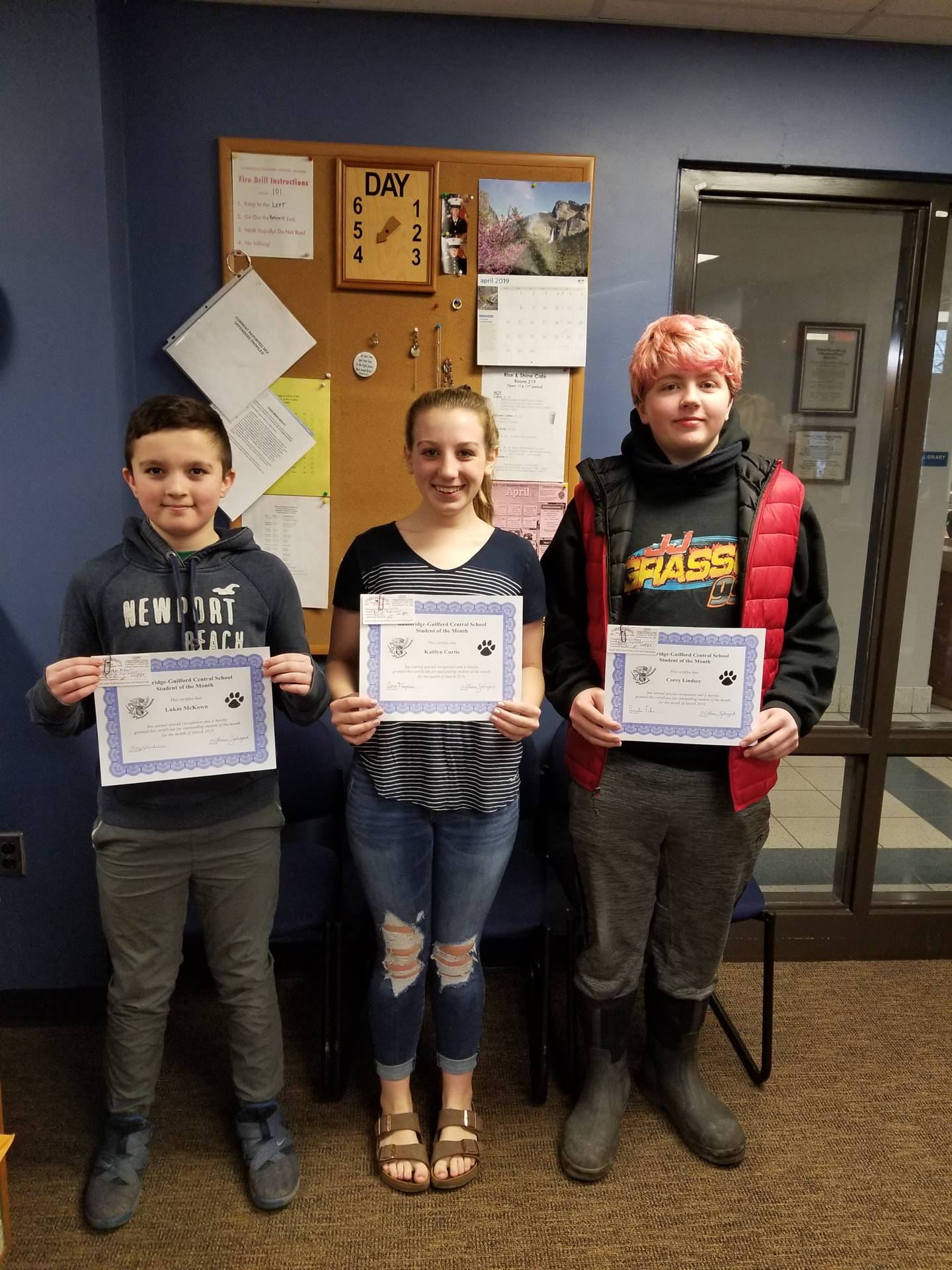 Students of the Month - March 2019