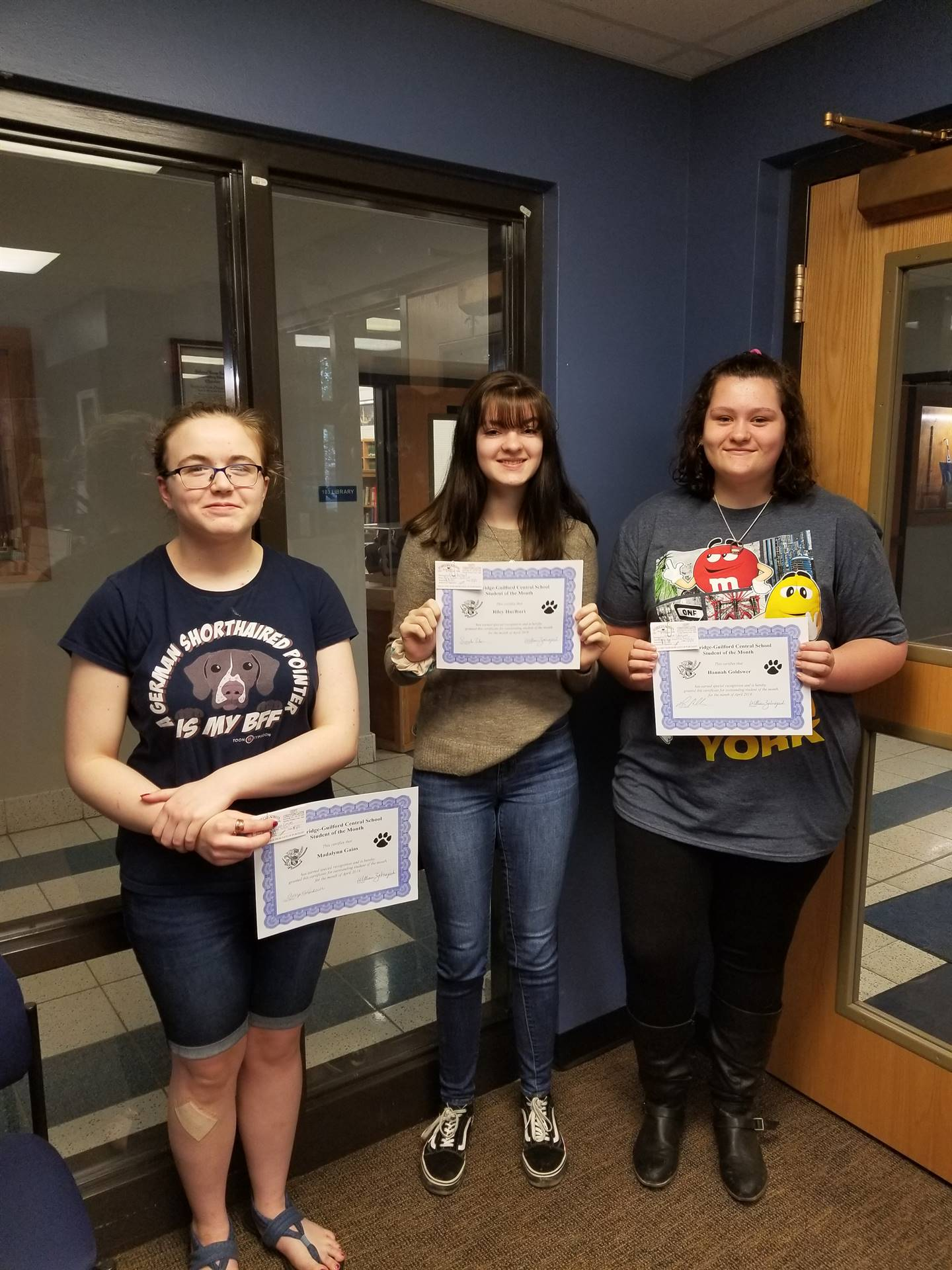 Students of the Month - April 2019