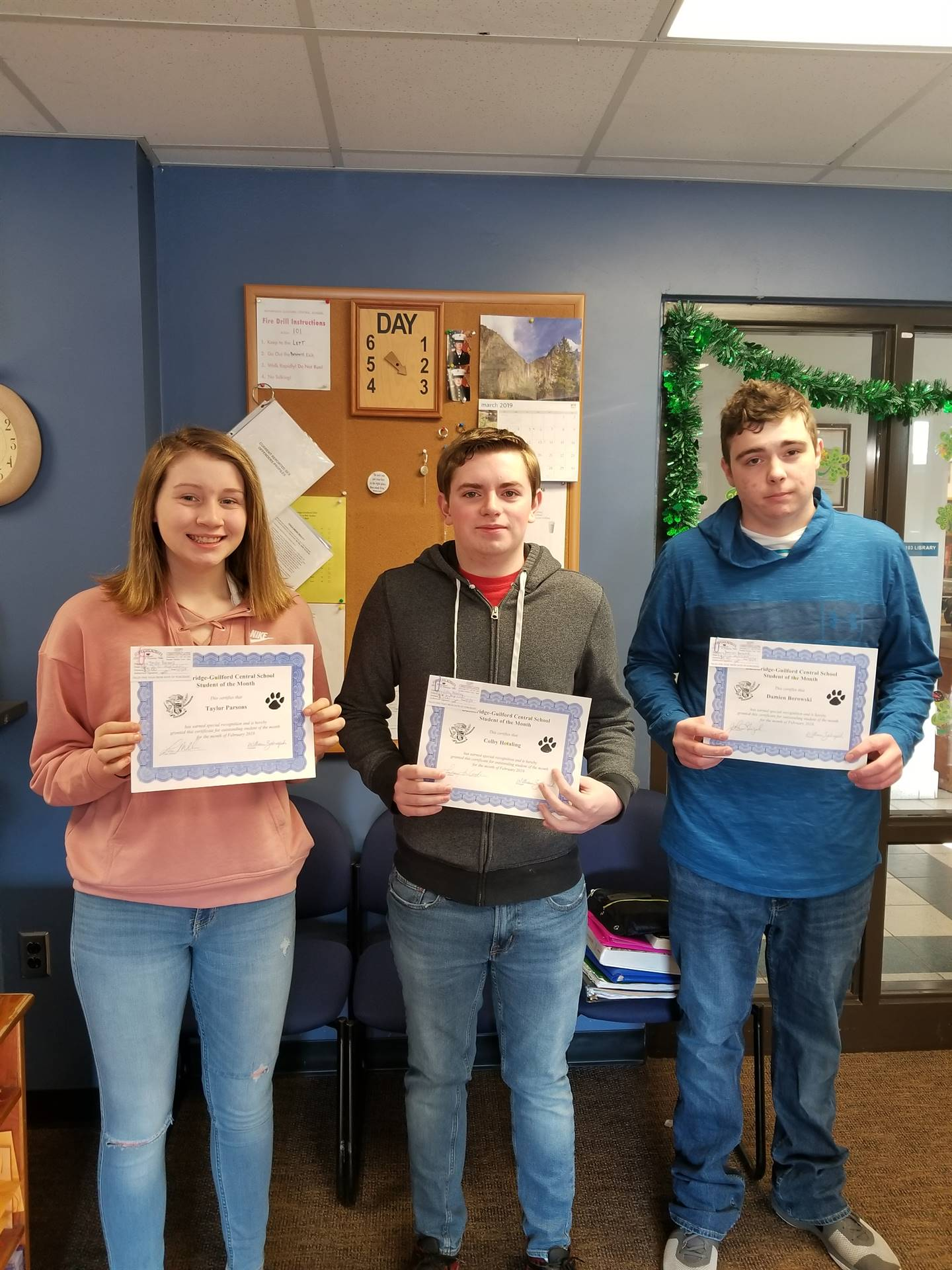 Students of the Month - February 2019