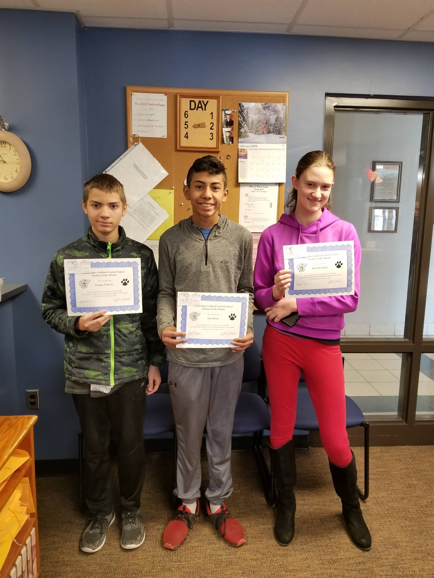 Students of the Month - January 2019