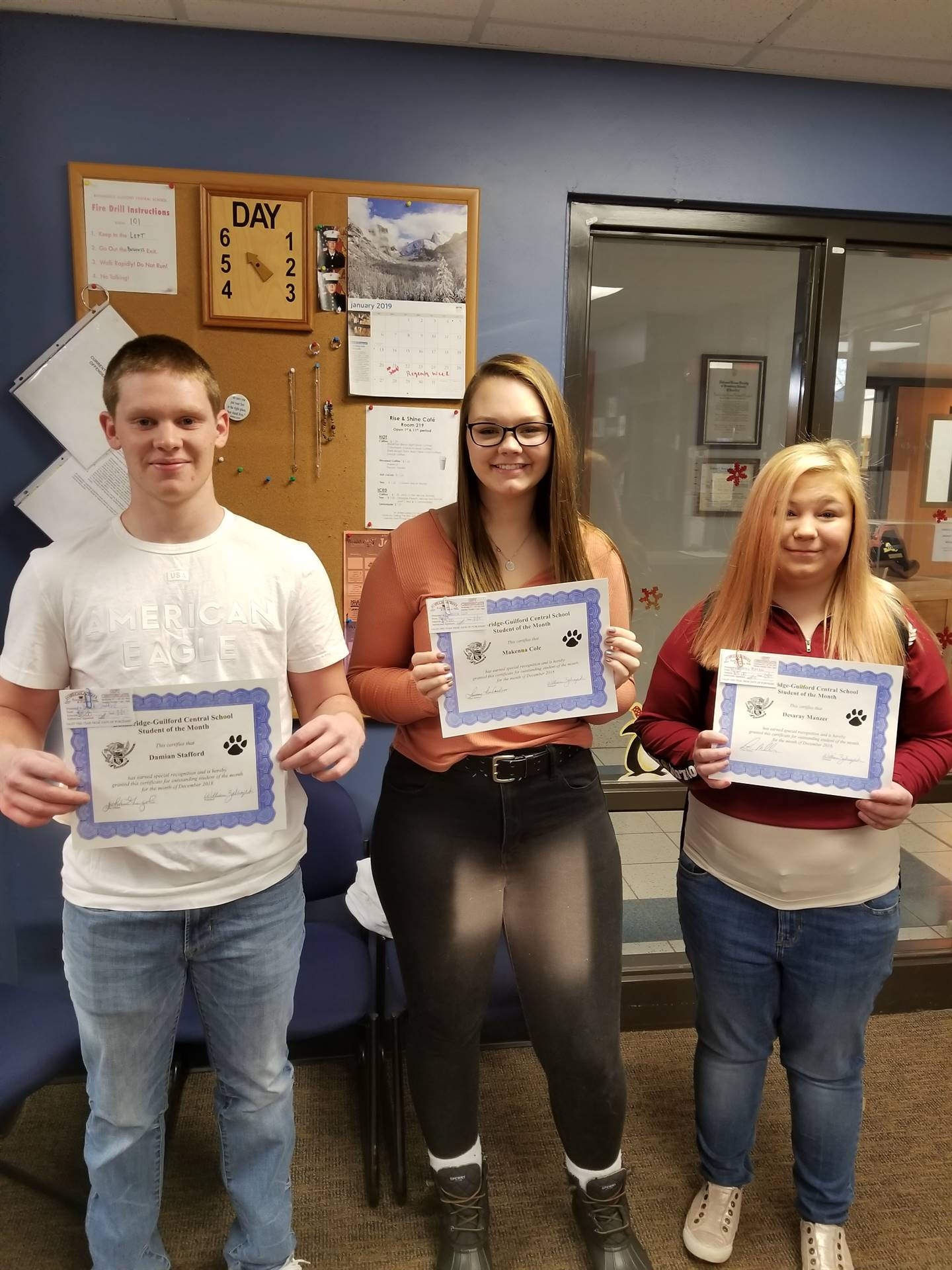 Students of the Month - December 2018