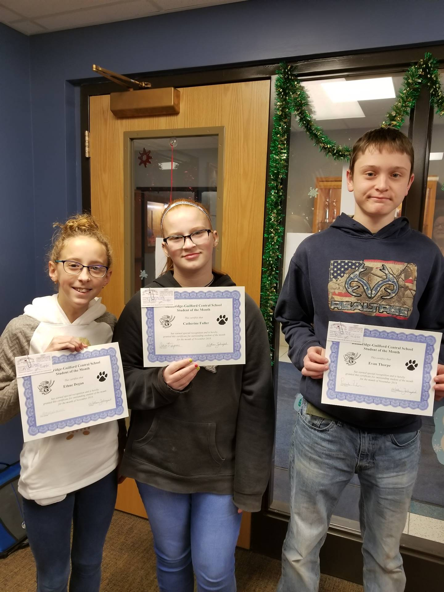 Students of the Month - November 2018