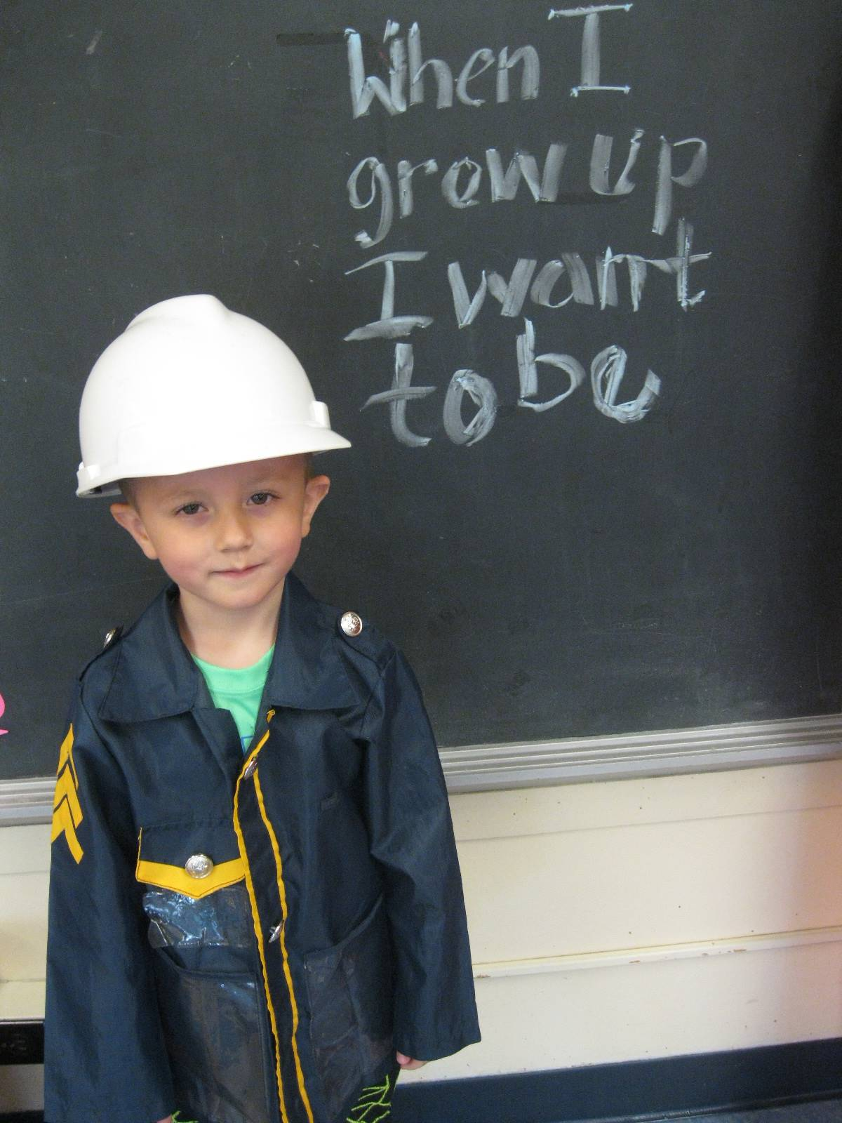 A student dressed up as a Community Helper