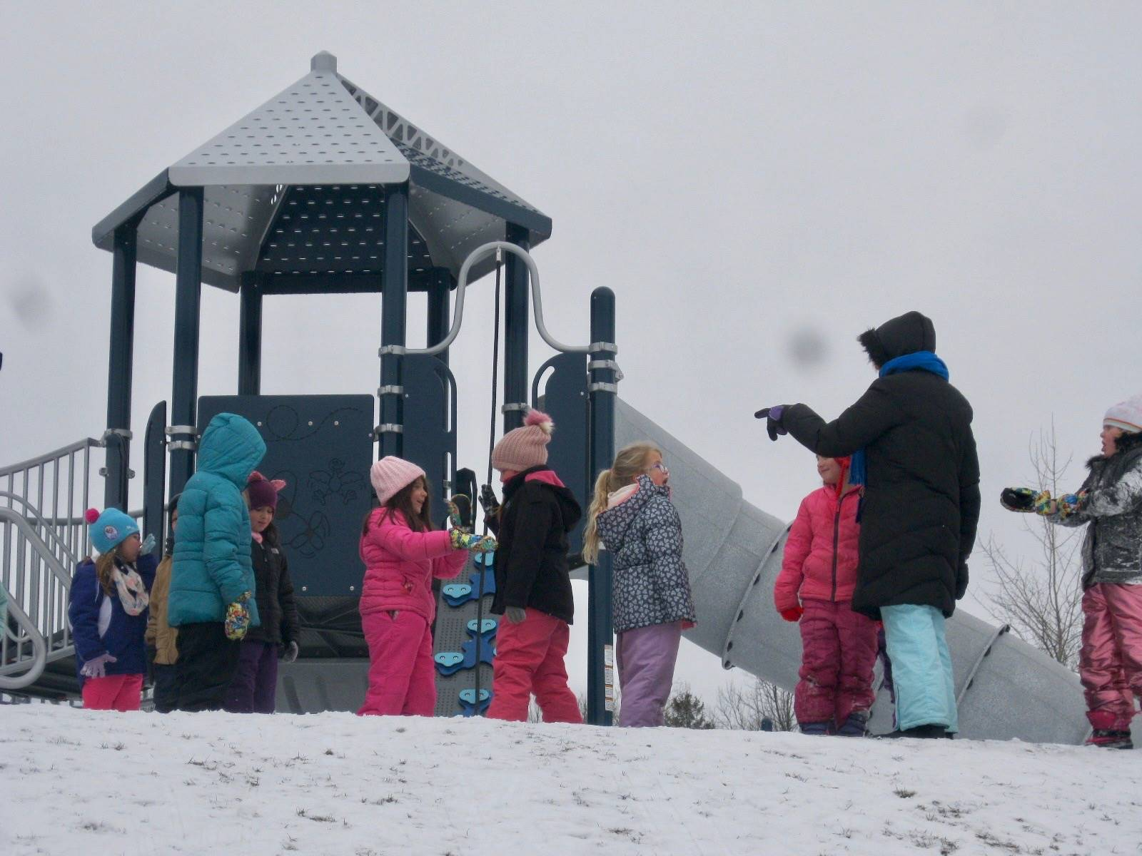 students playing on playground