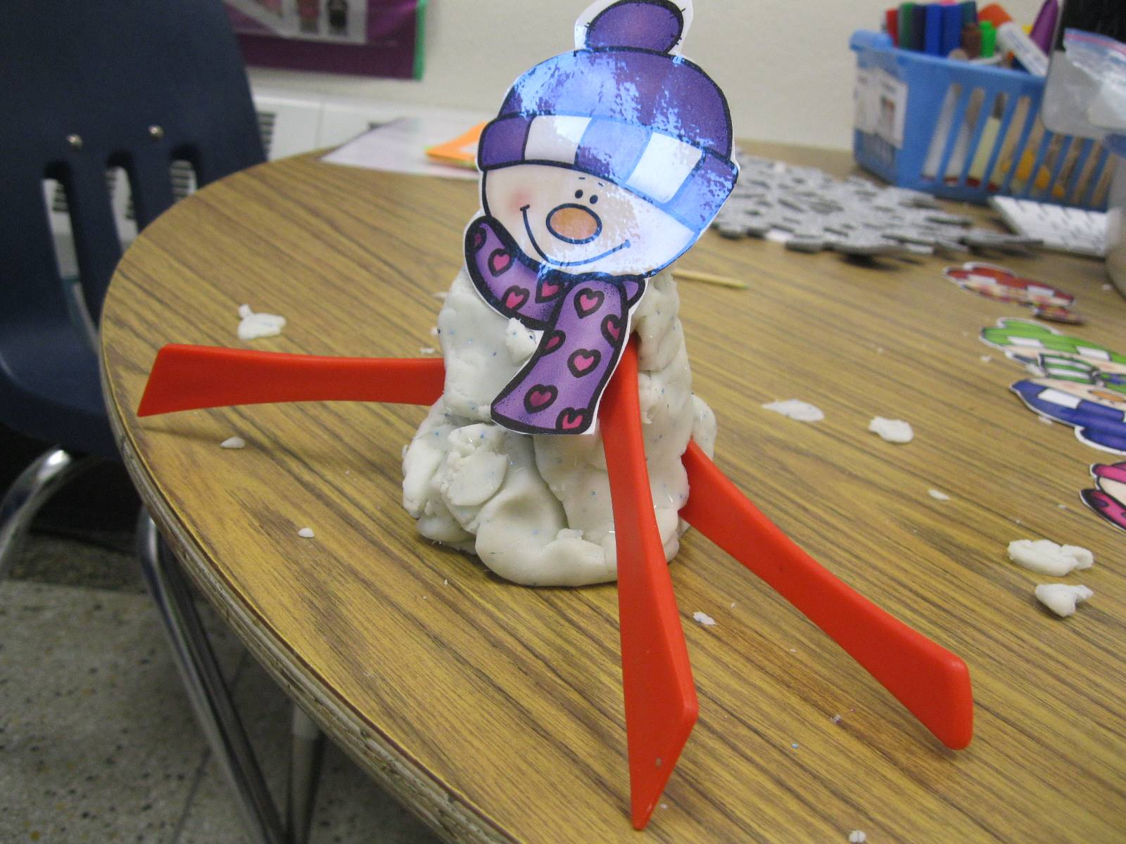 A snowman out of clay.