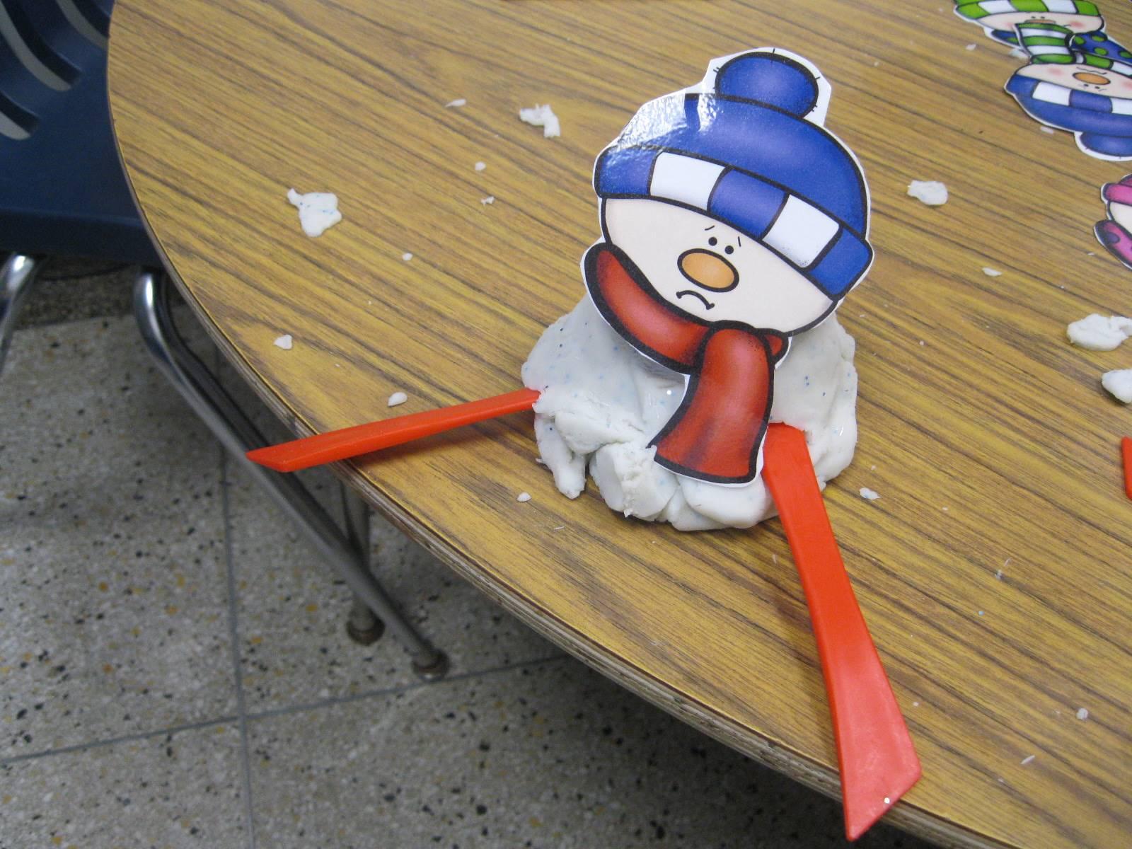 A sad played snowman.
