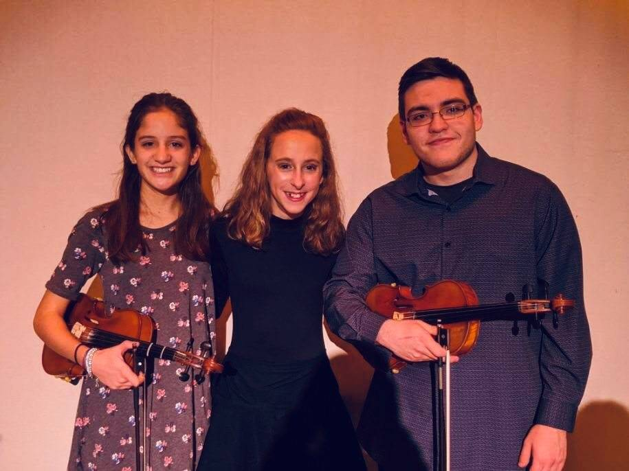 Three Violin Students