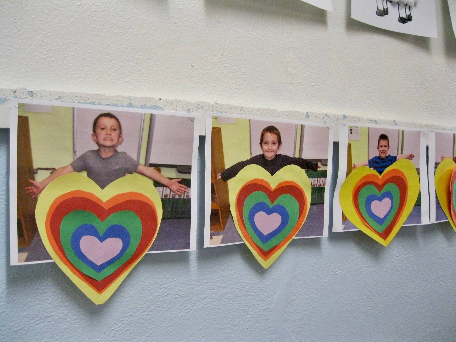 Pre k students with rainbow emotions!