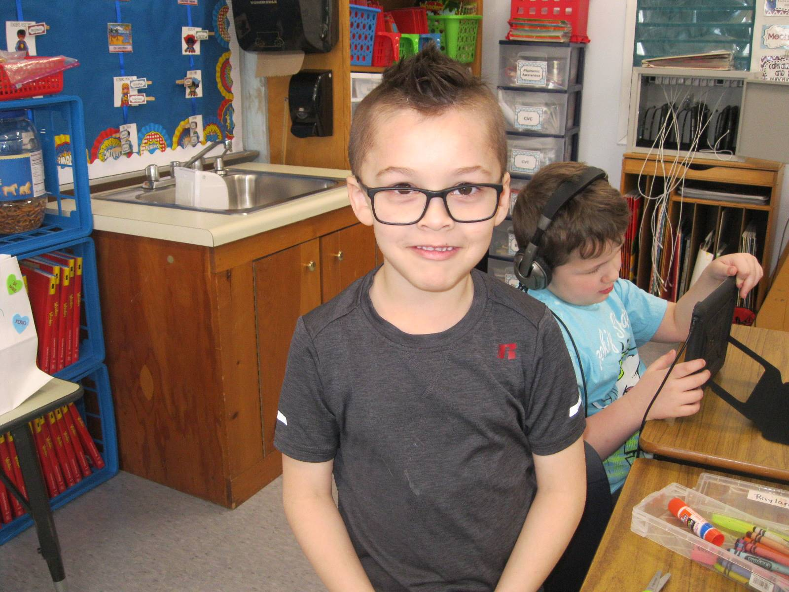 A student smiles for 100th day!