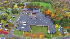 Aerial view of the Jr-Sr High School building