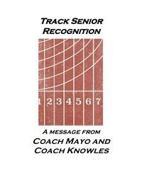 Senior Track Recognition